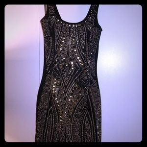 BEBE Black and gold dress:)